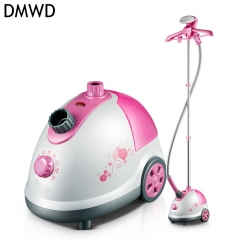 DMWD Home Garment Steamer Mute Sterilize Multifunctional Hanging Ironing Machine Anti-dry pink