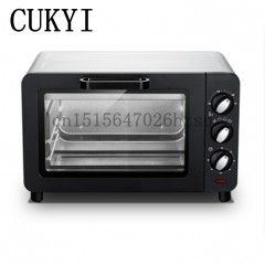 CUKYI Mini Household Ovens 15L Multi-functional baking machine electric oven Baking Timer 60min black 46cm x 39cm x 33cm 1200w