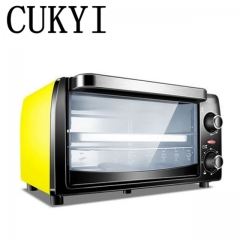 CUKYI hot sale 10L electric oven home mini oven Pizza barbecue fish biscuit cake 900w yellow 37cm x 30cm x 24cm 900w