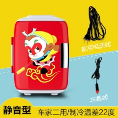 EDTID car refrigerator Mini portable home dormitory refrigerator cold-hot dual purpose refrigerator red 23cm x 30cm x 32cm