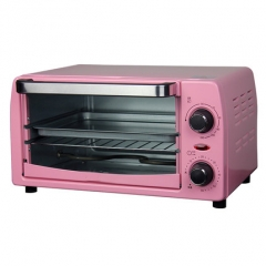 DMWD 10L Electric Mini Oven Home Freestanding Pizza cake Toaster Oven Timer Kitchen Appliances pink 25cm x 35cm x 25cm 900w