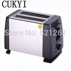 CUKYI Household stainless steel toaster bread machine toast furnace Baking Bread Machine kitchen black