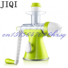 JIQI Household Healthy Manual Juice machine Ice cream Maker DIY fruits Ice Cream Juicer green 36cm x 18cm x 28cm