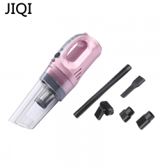 JIQI Car cleaners With lines illumination Portable powerful Vacuum Cleaners wet dry multifunctional pink 42cm x 12cm x 15cm