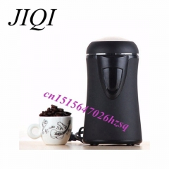 JIQI automatic coffee beans grinder Rapid grinding durable Various ingredients 50g hand coffee maker black