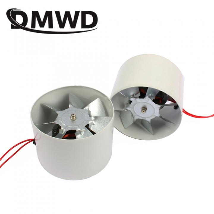DMWD Kitchen Toilet Louver Exhaust Fan Duct Air Ventilator Ceiling  Ventilation Fans Blower Exhauster
