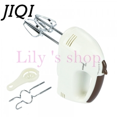 JIQI Electric Dough Hand Mixer Mini Milk Cream Batter Whisk Egg Beater Food Blender Processor white