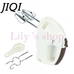 JIQI Electric Dough Hand Mixer Mini Milk Cream Batter Whisk Egg Beater Food Blender Processor white