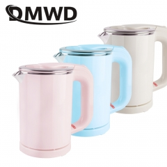 DMWD Travel water Heating Kettle MINI Electric kettle heater Portable stainless steel tea pot boiler blue