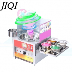 JIQI Commercial fancy gas cotton candy maker DIY sweet Candy sugar floss machine  snack equipments silver