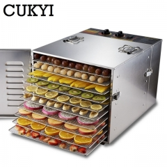 Stainless steel Food Dehydrator Fruits Drying Machine Snacks Meat Dried 10 Tiers Food Dryer 220v