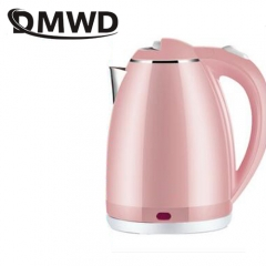 DMWD Stainless steel electric kettle boiler hot water heating teapot Household heater anti-dry 1.8L pink