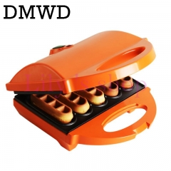 Mini cake maker DIY household waffle machine 2 sided heating breakfast machine not sticky plate orange