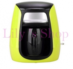 DMWD MINI household American drip coffee machine semi-automatic portable Espresso coffee maker green 21cm x 21cm x 25cm