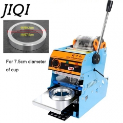 JIQI Manual Handle cup sealing machine commercial sealer pearl milk tea shop closure Cup lid for 7.5cm
