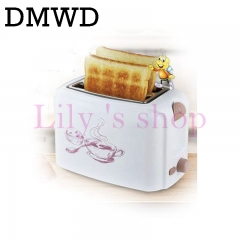 DMWD household Toaster automatic baking bread maker sandwich heater breakfast machine Toast oven white