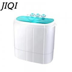 JIQI Twin Tub  Electric Clothes Washer Mini Washing Machine Semi-automatic Sterilization Cleaner white 60cm x 39cm x 62cm
