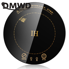 DMWD Round Electric Magnetic Induction Cooker wire control Embedded mini hob Burner touch type with ring
