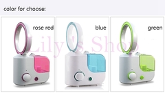 DMWD MINI electric desktop no leaf air cooling fan humidifier diffuser Mist Maker Fogger rose red