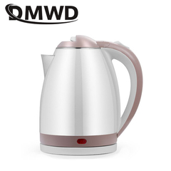 DMWD Stainless Steel Electric Kettle 1.8L 1500W Auto Power-Off Quick Hot Water Heating Boiler white