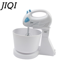 DMWD 7 Files Dough Mixer Egg Beater Food Blender Kitchen Electric Food Processor hand held blue and white