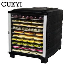CUKYI Electric Dried Fruit Dehydrator Snack Pet Food Dryer Vegetable Herbs Meat Air Drying 220v