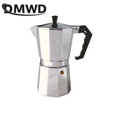 1/2/3/6/9/12Cups Stovetop Coffee Maker Italian Moka Aluminum Mocha Espresso Percolator Pot Filter silver 50ml 1CUP 24CM X 10CM X29CM