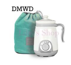 DMWD ceramics soup stewing porridge stew slow cooker mini water heating cup electric kettle 0.4L Light grey