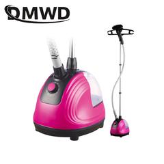 DMWD Electric Garment Steamer 1800W Hanging Vertical Steam Iron Brush 11 Gears Adjustable  1.5L pink