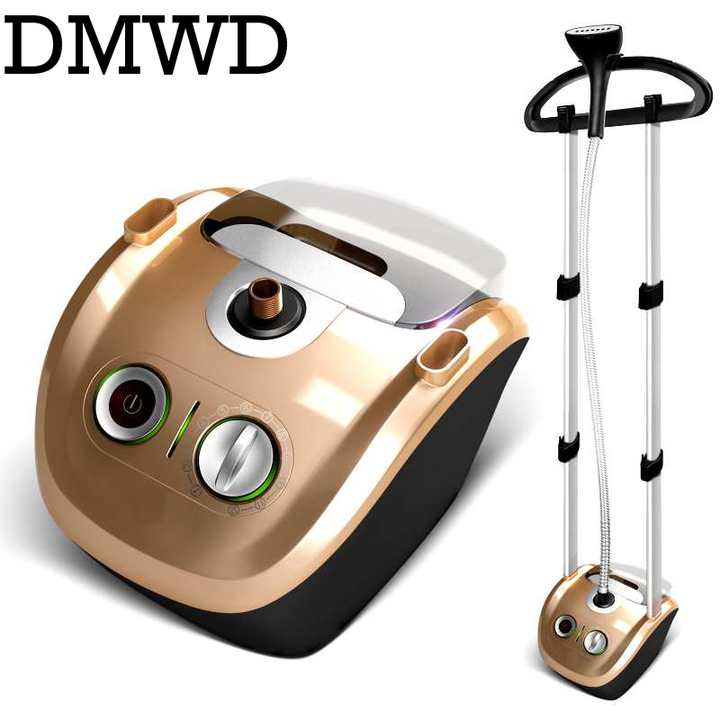 Double Rod Garment Steamer hanging ironing machine 2.3L mini handheld vertical clothes iron 12 gears brown