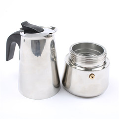DMWD Hot Sale 2/4/6/9 Cups Stainless Steel Moka Espresso Latte Percolator Stove Top Coffee Maker Pot 100ml normal