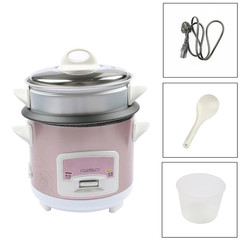 DMWD  Mini Automatic Rice Cooker Electric Food Steamers Non-stick Cake Maker For Home 220v 1.5L purple