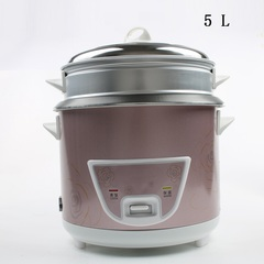 DMWD  Mini Automatic Rice Cooker Electric Food Steamers Non-stick Cake Maker For Home Top Quality 220v 5L purple