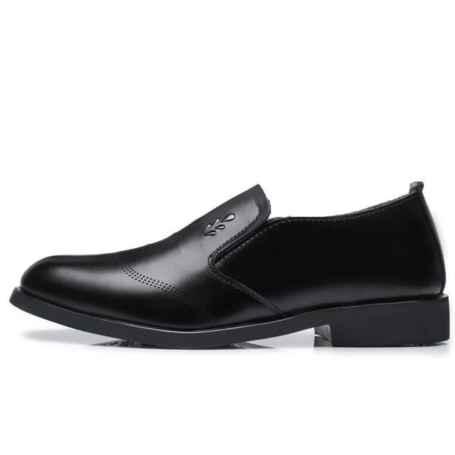 Men's Flats  Shoes Classic Business Dress Shoes 81610 black 38