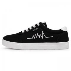 Men popular adult casual shoes fashion breathable soft wild tide flat shoes Comfortable DG628 Black 43
