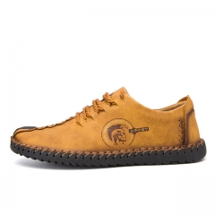 British style fashionable new tide style of men's super fibre leather shoes 601 yellow 38
