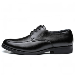 New Men Dress Shoes Men Formal Shoes Classic Business Luxury Men Oxfords JZ812 black 44 leather