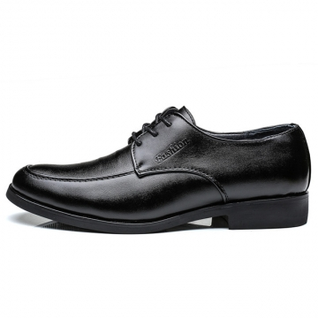 New Men Dress Shoes Men Formal Shoes Classic Business Luxury Men Oxfords JZ812 black 37 leather