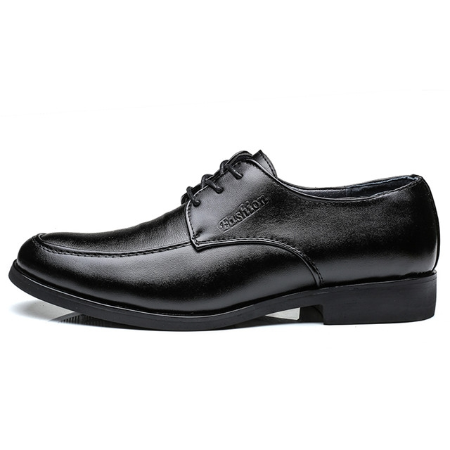 New Men Dress Shoes Men Formal Shoes Classic Business Luxury Men Oxfords JZ812 black 41 leather
