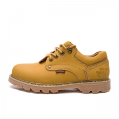 Men's Boots High Quality Work & Safety Boots Plus Size 47 Work Leather Shoes Fashion Ankle Boot 5808 Yellow 38