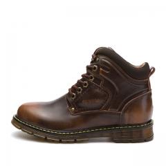British Short Retro Men Shoes Fashion Martin Men's Boots5872 brown 38