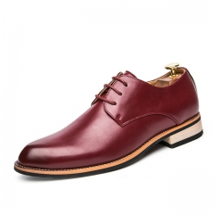 British casual shoes Korean hair stylist shoes fashion Europe and America increased shoes1022 red 39 leather