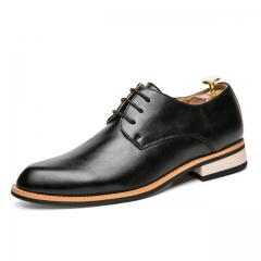 British casual shoes Korean hair stylist shoes fashion Europe and America increased shoes1022 black 38 leather