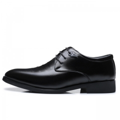 Men's Flats Formal Shoes Classic Business Dress Microfiber leather Shoes 2213 Black 38 leather