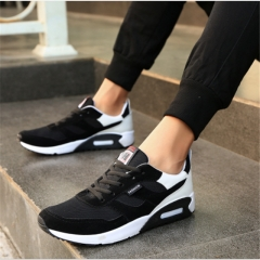 2018 new summer men's running shoes Korean casual shoes men's trend board shoes  men's tide shoes Black 39