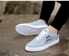 Men popular adult casual shoes fashion breathable soft wild tide flat shoes Comfortable DG628 gray 39