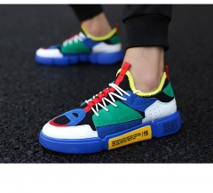 Mens Breathable Weave Male High Quality Sneakers Comfortable Non-slip Mesh Men Shoes Tenis Masculino Blue 39