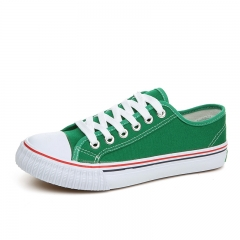 Summer new couple canvas shoes classic men's shoes Korean color student shoes men and women shoes green 35