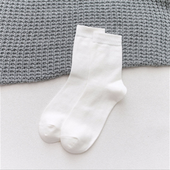 Men's sweat-absorbing and deodorant solid color business tube cotton socks Socks Random Color random Random One Size normal