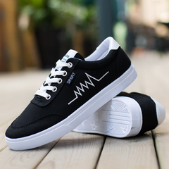 Men popular adult casual shoes fashion breathable soft wild tide flat shoes Comfortable DG628 Black 42